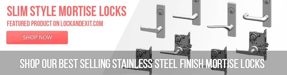 Stainless Steel Finish Mortise Locks - Slim Style